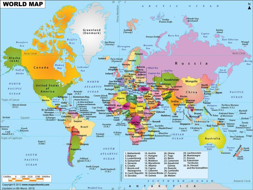 World Map Hd Banner Poster Fine Art Print Maps Posters In India