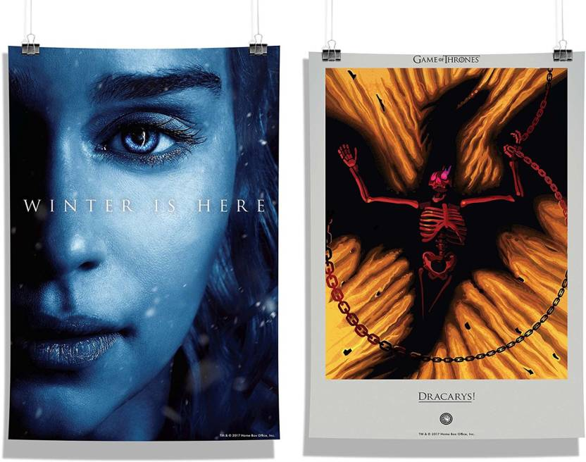 Game Of Thrones Daenerys Winter Is Here Dracarys Wall