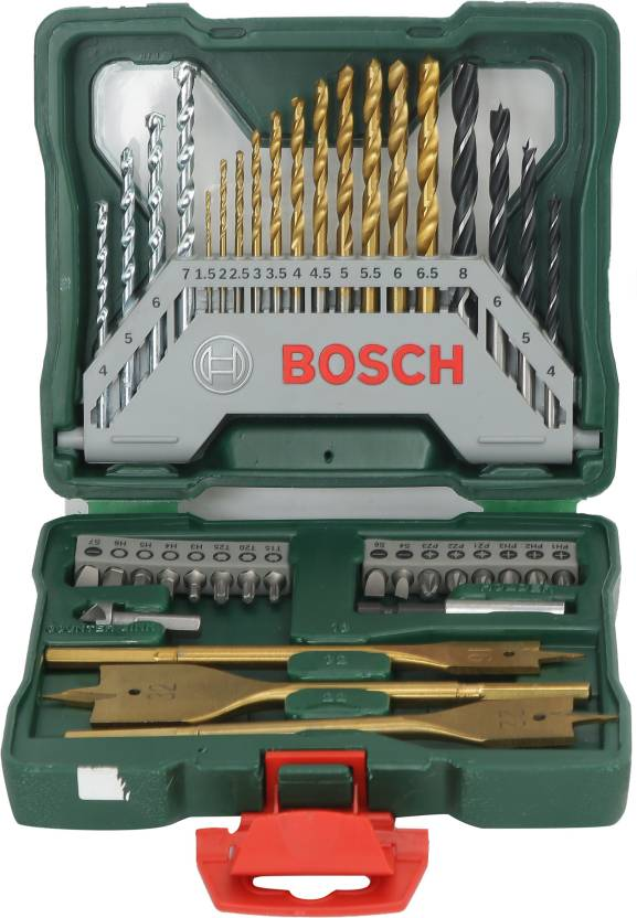 Populair Bosch 40 Piece X-line Titanium Set Hand Tool Kit Price in India XY57