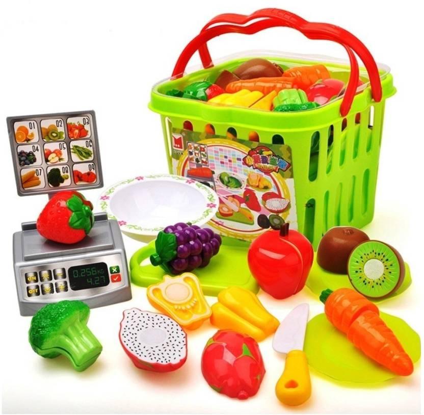 50867c9dcb96e Jaibros Plastic Kitchen Fruit And Vegetable Basket Cutting Learning Toy Set  - Plastic Kitchen Fruit And Vegetable Basket Cutting Learning Toy Set .  shop for ...