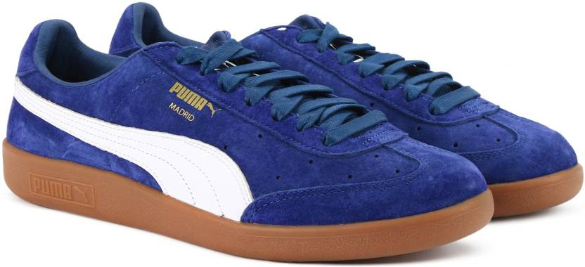 f3a9f9dc7d23 Puma Madrid Suede Sneakers For Men - Buy Blue Depths-Puma White-Puma ...