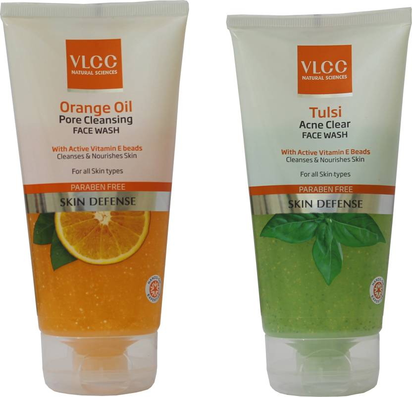 VLCC COMBO KIT OF ORANGE OIL FACE WASH & TULSI FACE WASH (150*2) Face Wash (300 g)
