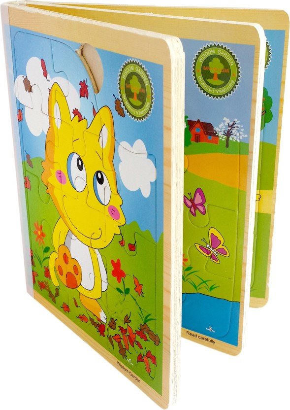 28 Pattern Baby Kids Boys Girls Puzzle Toy Cartoon Animals Wooden Education Toy