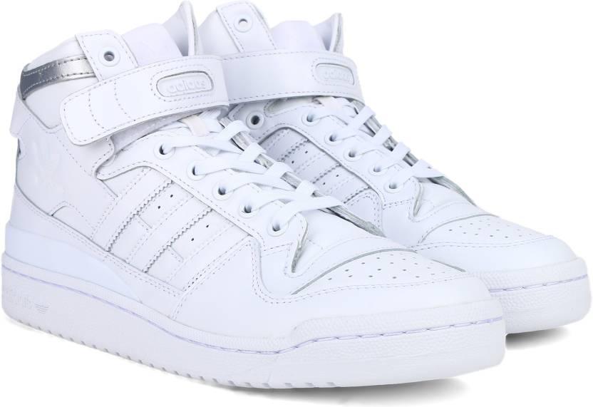 adidas originali forum metà raffinato scarpe per gli uomini comprano ftwwht
