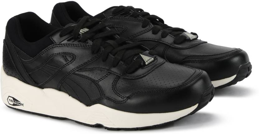 ddb939657c8 Puma R698 Perf Leather Sneakers For Men - Buy Puma Black-Whisper ...