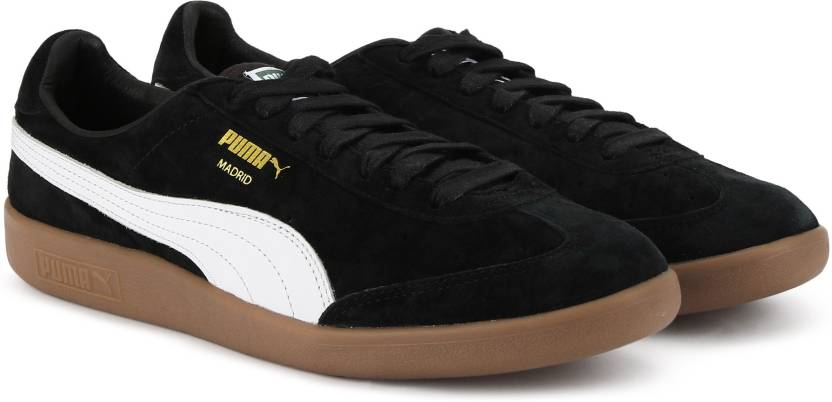 51c24cafe74e23 Puma Madrid Suede Sneakers For Men - Buy Puma Black-Puma White-Puma ...