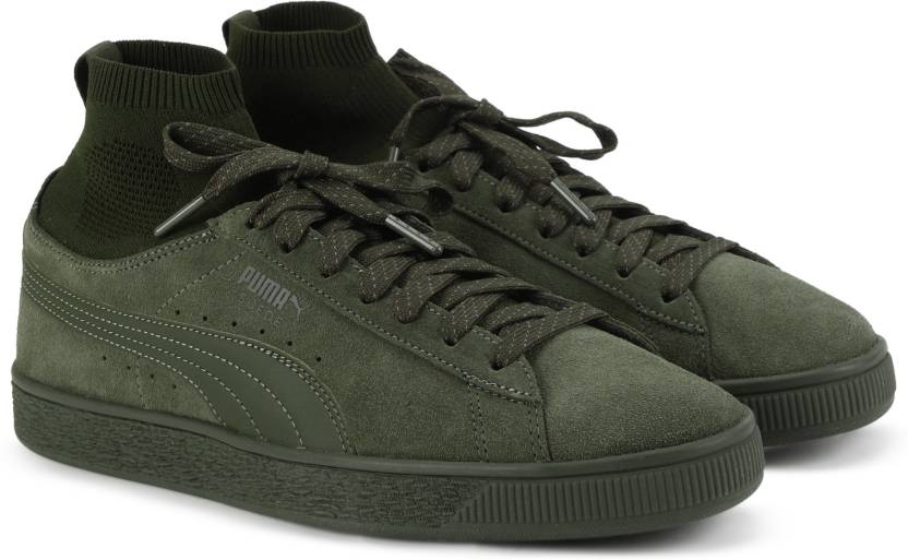 Puma Suede Classic Sock Sneakers For Men - Buy Olive Night-Olive ... e1f3876f2