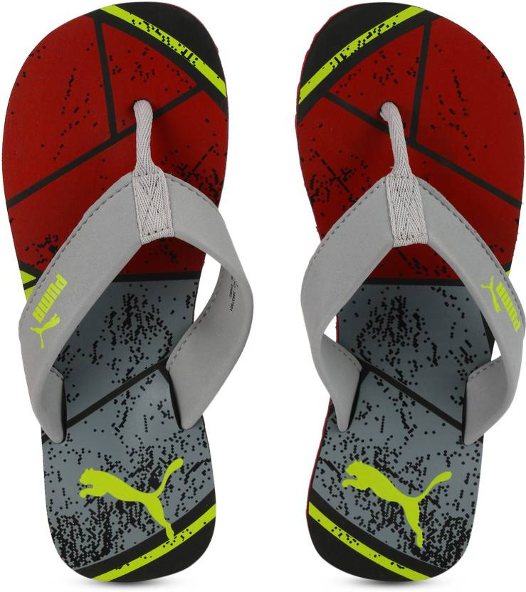 e5b21b35cf256 Puma Splash IDP Slippers - Buy Quarry-Black-High Risk Red Color Puma Splash  IDP Slippers Online at Best Price - Shop Online for Footwears in India ...