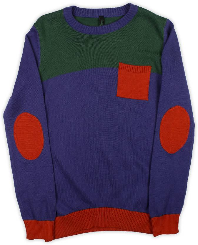 dad974b84 ... Multicolor Sweater - Buy Royal Blue/Multicolored United Colors of  Benetton Solid Round Neck Casual Baby Boys Multicolor Sweater Online at Best  Prices ...