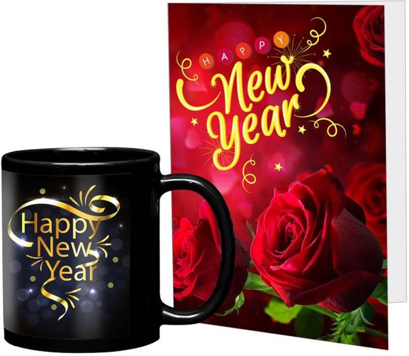 lof golden happy new year wish gift for girlfriend and boyfriend friend greeting message card mug