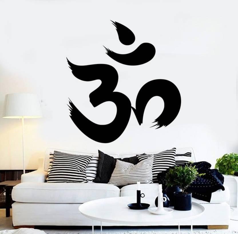fantaboy black om design wall decal/sticker(62 x 42 cm) price in