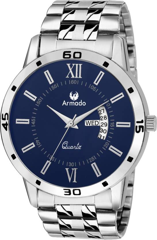 Armado AR-101-BLU Classy Date n Day Watch - For Men