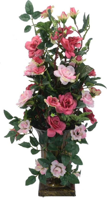 305 & Scrafts White Big Roses Plastic Base artificial/dry/faux ...