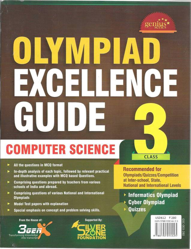 Olympiad Excellence Guide Computer Science Class 3 1st Edition