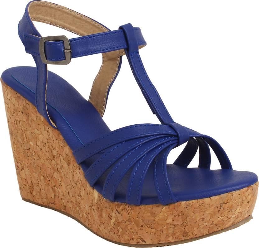 5acb3b21bdf Glitzy Galz Women Blue Wedges