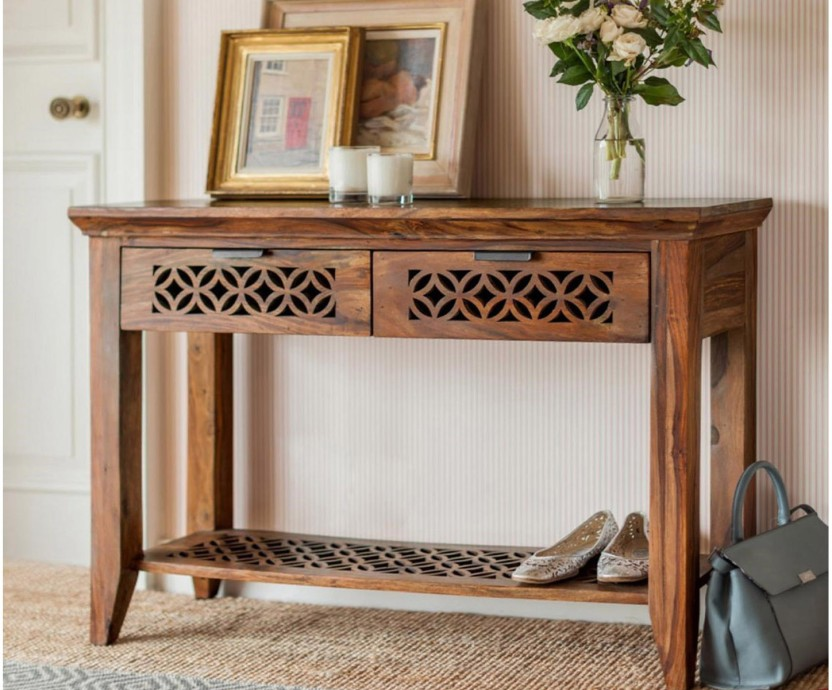 Superbe The Attic Solid Wood Console Table