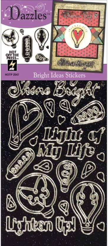 Hot Off The Press Dazzles Stickers Bright Ideas Black Dazzles