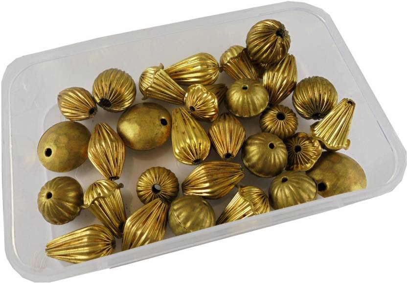 Estore 30 Pcs Handcrafted Handicraft Export Quality Metal Beads For