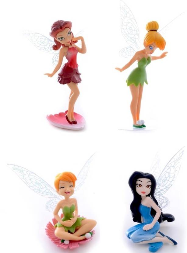 97501d84b0f3a iDream 4pcs Tinker Bell Cartoon Fairy Princess Doll Action Figures Toy Gift  Set For Kids (Multicolor)