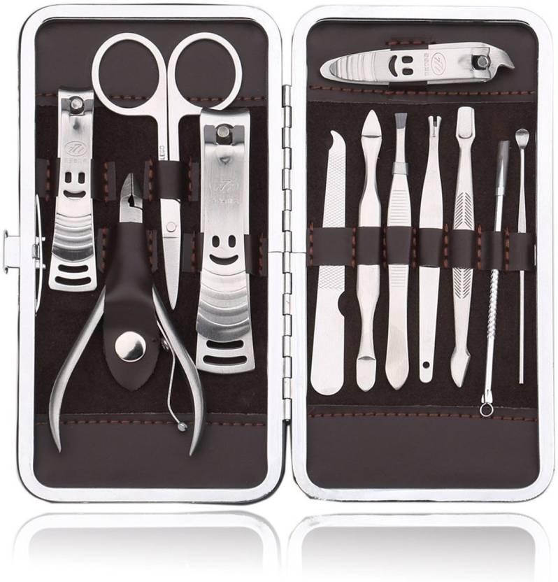 ACUTAS 12 PCS/set Nail Art Manicure Tools Set Nails Clipper Scissors ...