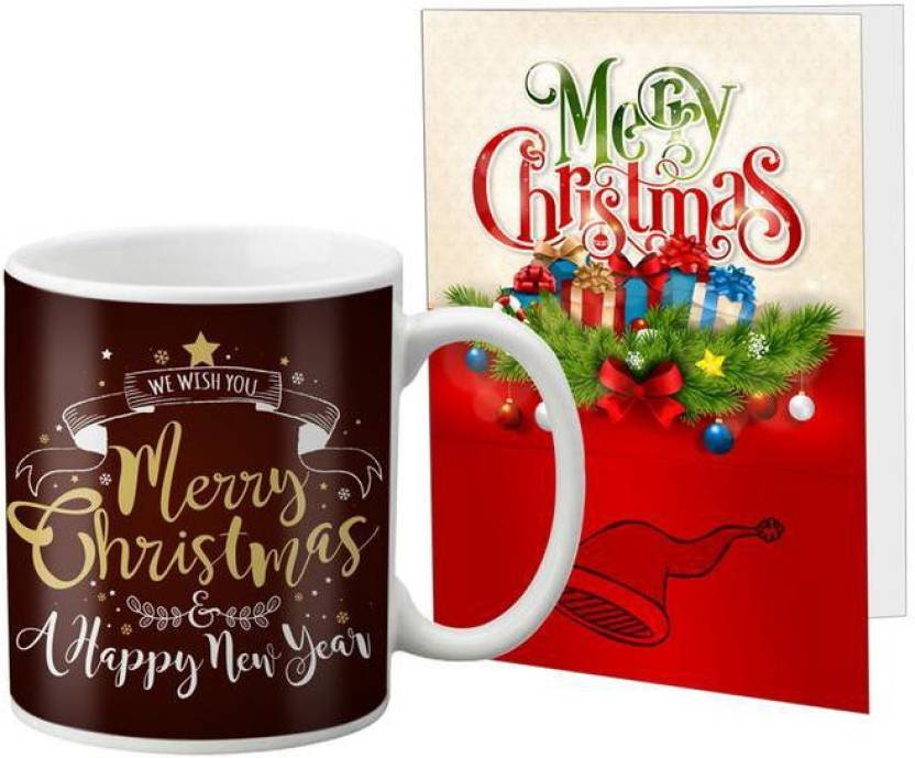 lof christmas gift merry christmas gift card message card combo for girlfriend