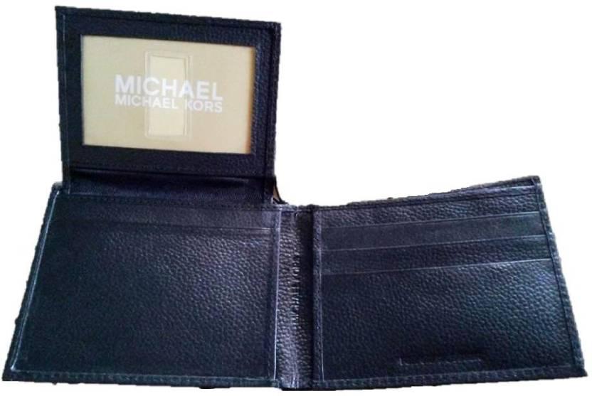 9ee71de586be Michael Kors Men Black Genuine Leather Wallet Black - Price in India ...