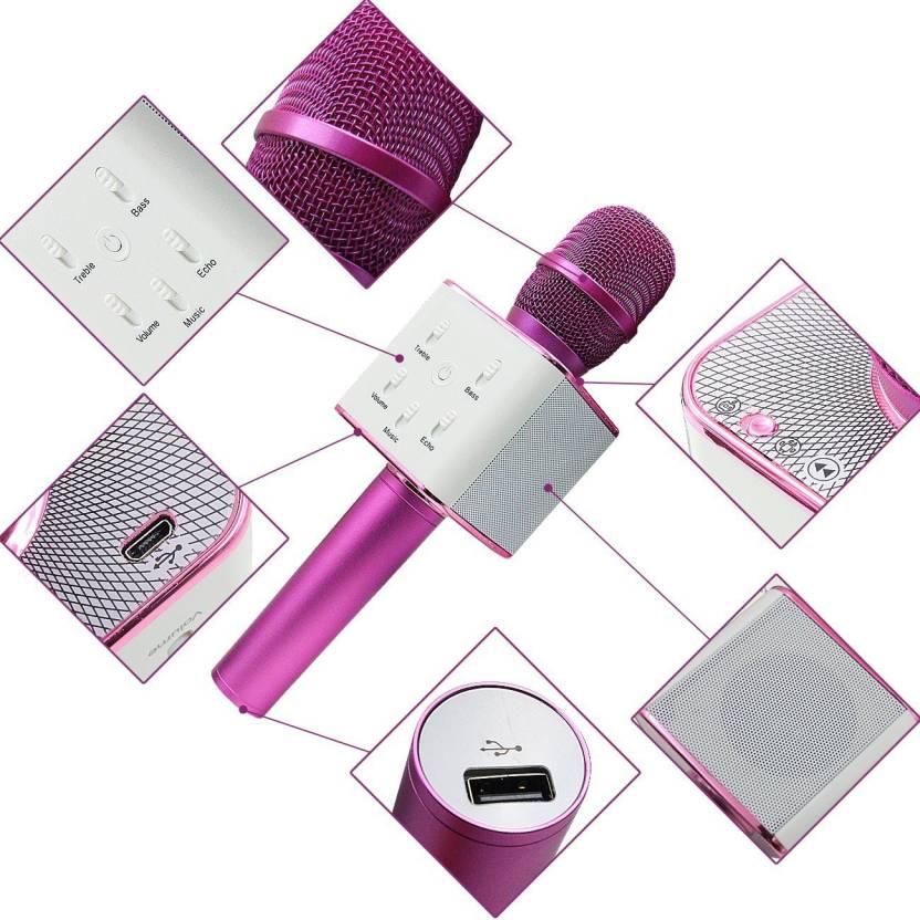 VibeX ™ Karaoke Microphone, Warmhoming Portable Wireless Cellphone Karaoke Player Built in Bluetooth Speaker, Handheld Mic Singing Machine Microphone