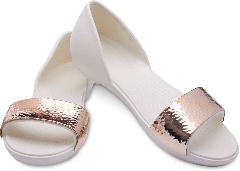 505aa0f1b1d2 Crocs Women Off white Flats - Buy Crocs Women Off white Flats Online at  Best Price - Shop Online for Footwears in India