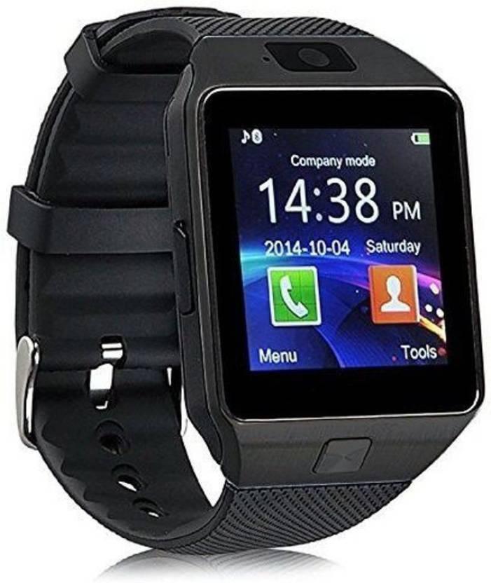 ae3200fe3f1916 Piqancy Dz09 Black Smartwatch with SIM card, 32GB memory card slot,  Bluetooth and Fitness Tracker Smartwatch (Black Strap Regular) Black  Smartwatch (Black ...