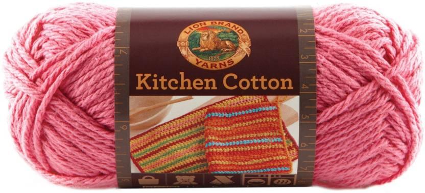 Lion Brand Kitchen Cotton Yarn Bubblegum