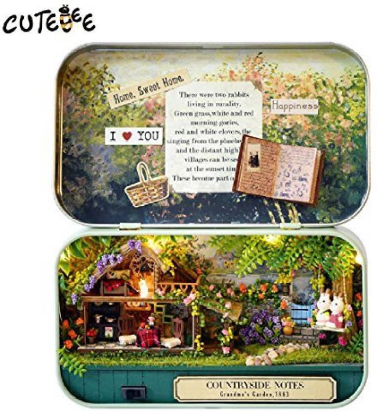 Crystalbella Toy Handmade Furniture Diy Miniature Doll House 3d
