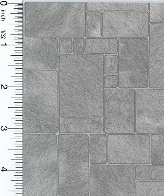 Dollhouse Wallpaper Worn Grey Flagstone Wallpaper Worn Grey