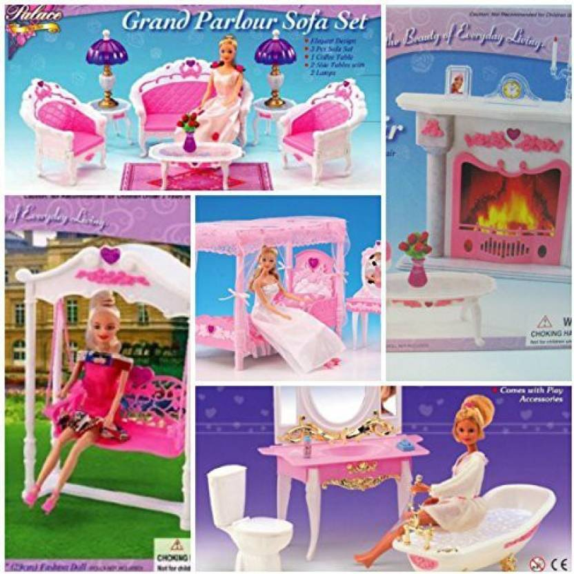 Barbie Size Dollhouse Dining Room Furniture Play Set Generic