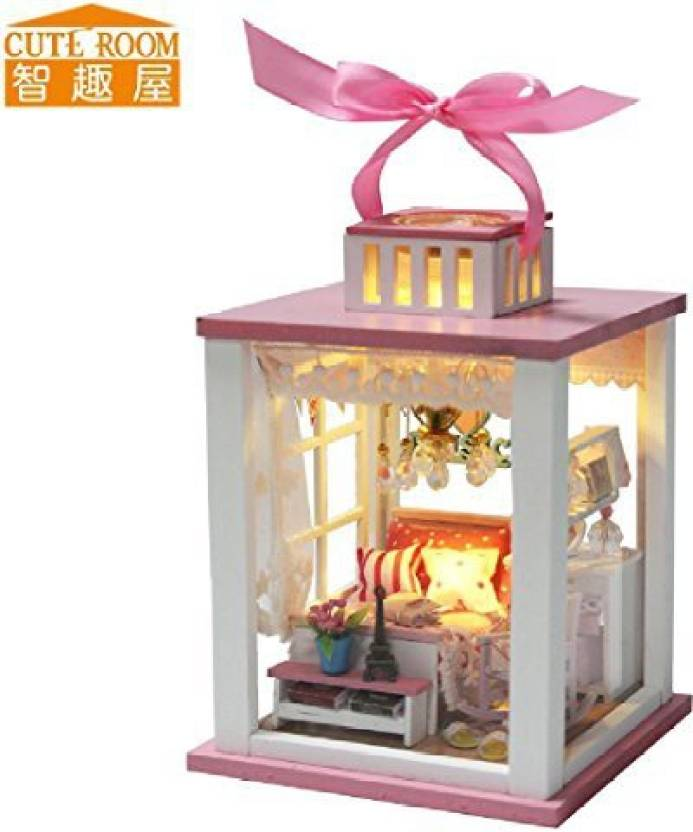 Crystalbella Toy Hot Sale Diy Doll House Wooden Miniatura Doll