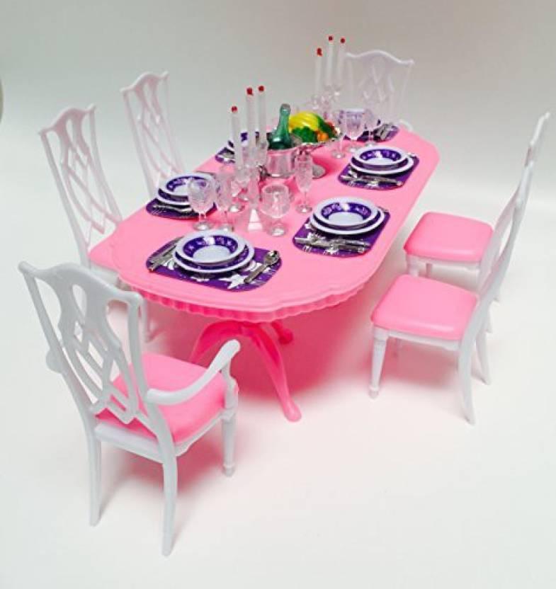 Generic Barbie Size Dollhouse Furniture Gloria Dining Room Barbie