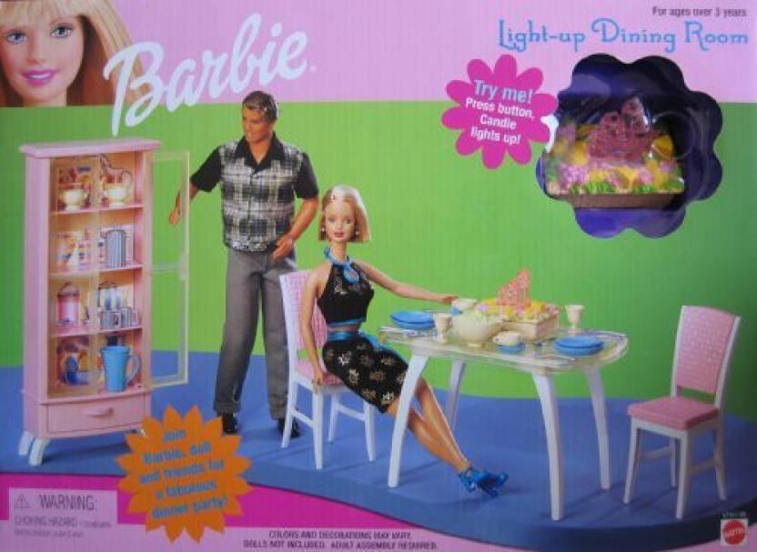 Generic Barbie Light Up Dining Room Playset (1999) - Barbie ...