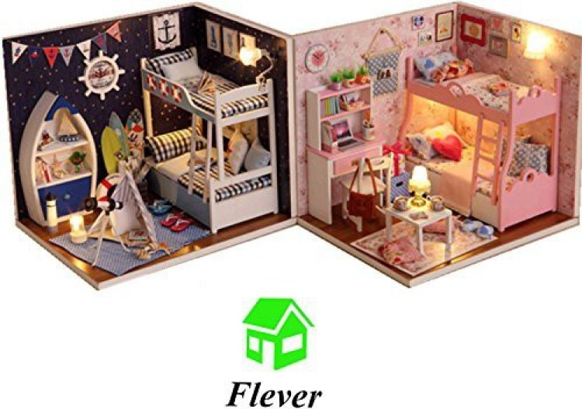 Flever Dollhouse Miniature DIY House Kit Creative Room with Furniture for