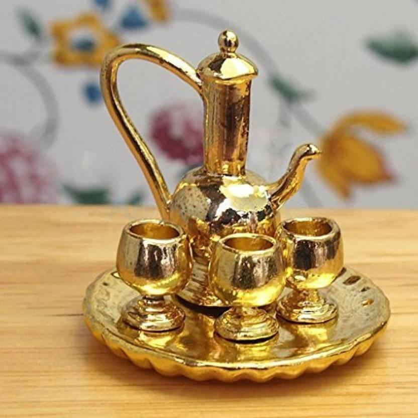 Alpinetopline 1:12 Dollhouse Miniatures Tableware Tea Wine