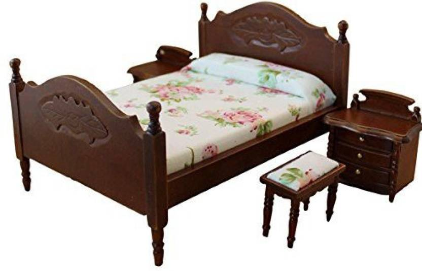 Bestlee 1 12 Dollhouse Furniture 4pcs Vintage Single Bed With