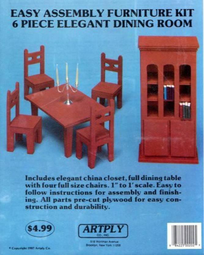 Artply Co Easy Assemble Furniture Kit 6 Piece Elegant Dining