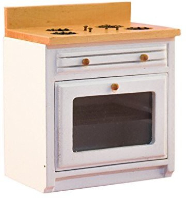 1//12 Dollhouse Miniature Kitchen WOODEN Cupboard Cabinet with Stove Sink
