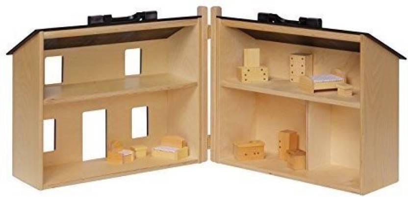 Amishtoyboxcom Amish Made Large Wooden Doll House With 16 Piece Doll