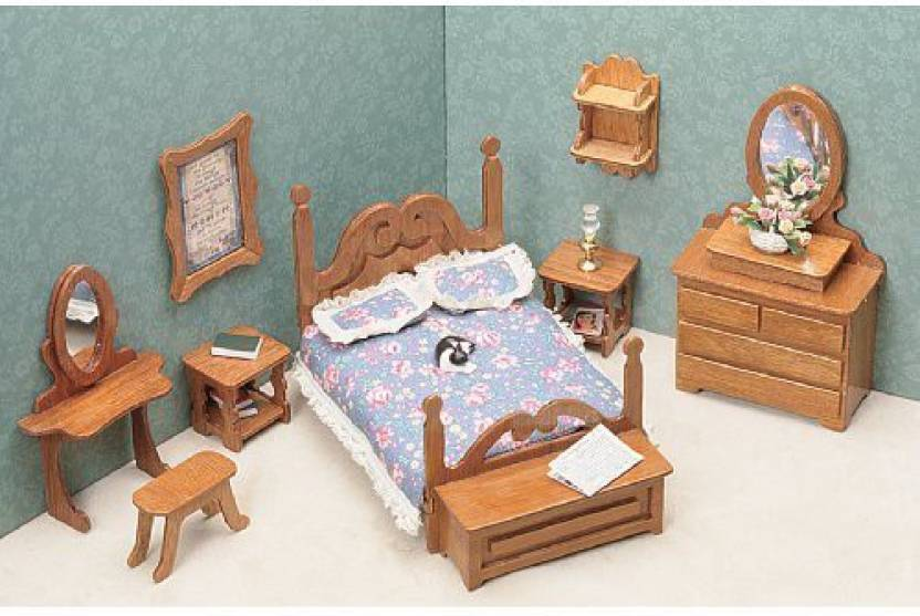 Greenleaf Billiards Dollhouse Furniture Kit Bedroom Dollhouse