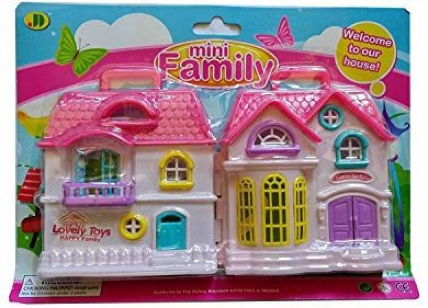 Generic Mini Family Doll House Play Set Folding By A1 Mini Family