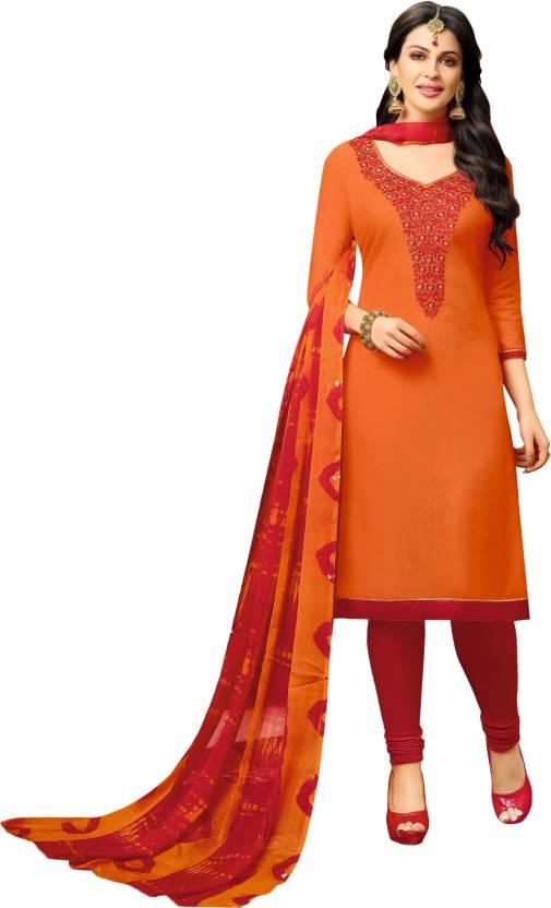 4bd19fb9c Pisara Cotton Embroidered Salwar Suit Dupatta Material (Un-stitched)