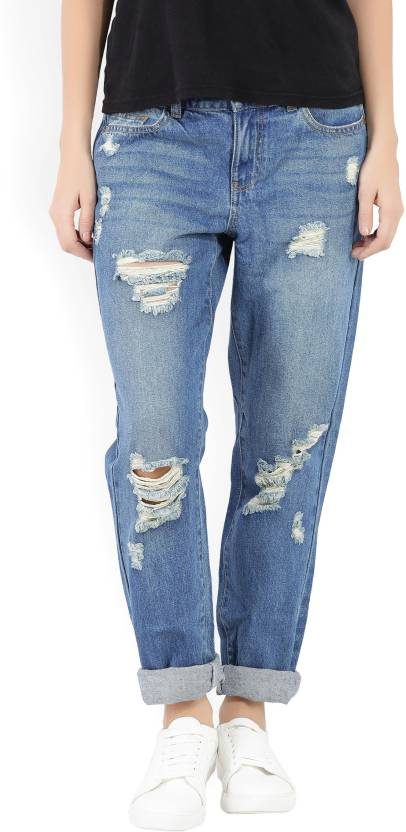 aa478fbe9 Only Regular Women Blue Jeans - Buy Blue Only Regular Women Blue Jeans  Online at Best Prices in India