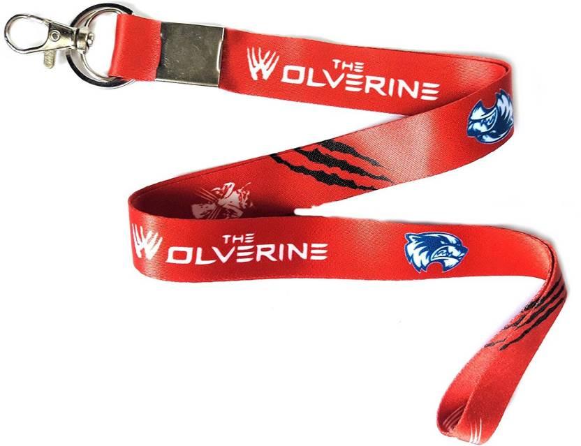 474f3611c66 Blue Aura Wolverine Keychain With Lock ID Holder Lanyard Price in ...