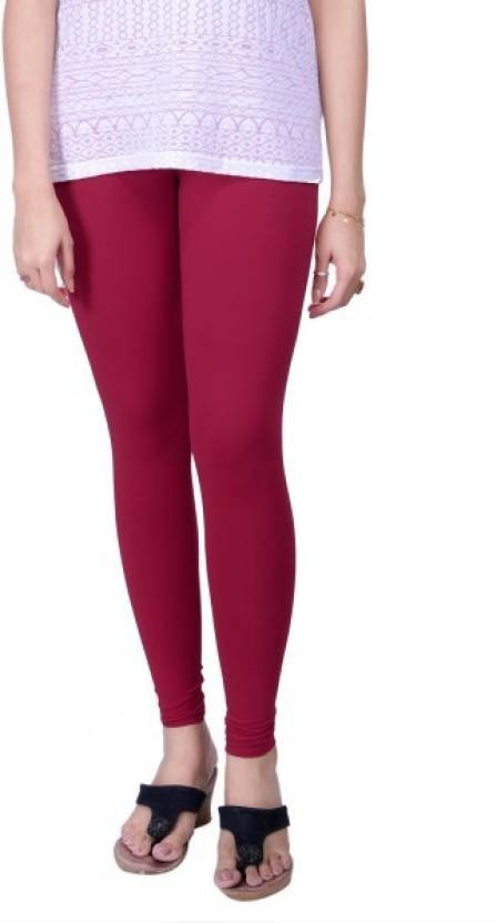 bca44d50111caa Lux Lyra Women's Ankle Length Leggings Bubble Gum Churidar Legging (Pink,  Solid)