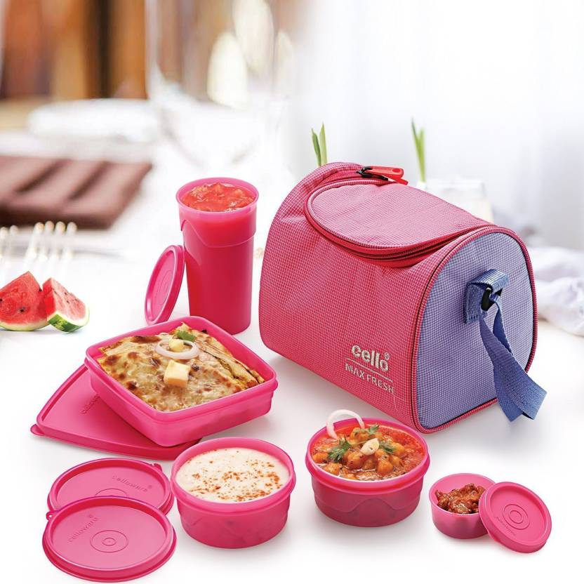 Cello Sling 5 Containers Lunch Box 1100 ml