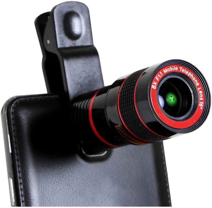 Mobone ™ 8x Zoom Telescope Universal Camera Lens for All Mobile Phones and Tablets Mobile Phone Lens Mobile Phone Lens (Telephoto)